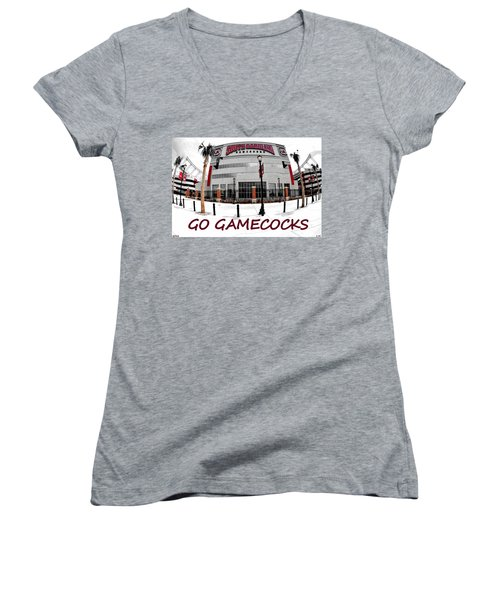 Go Gamecocks Women's V-Neck T-Shirt