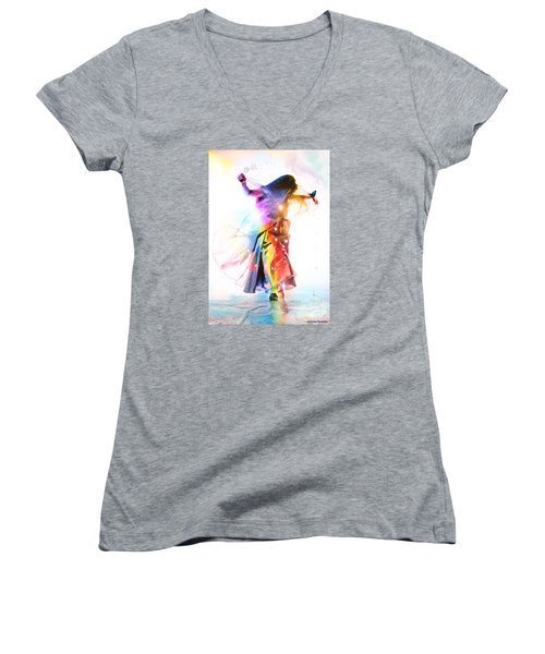 God Colors Women's V-Neck (Athletic Fit)