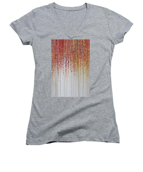 God Will Forgive You. Luke 23 34 Women's V-Neck T-Shirt (Junior Cut) by Mark Lawrence