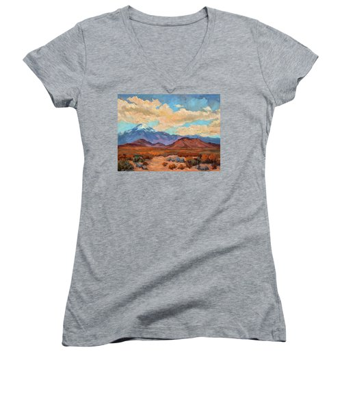 God's Creation Mt. San Gorgonio  Women's V-Neck