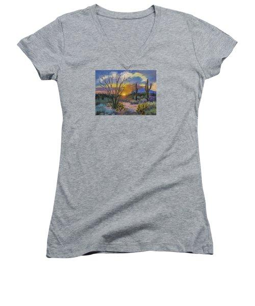God's Day - Sonoran Desert Women's V-Neck T-Shirt