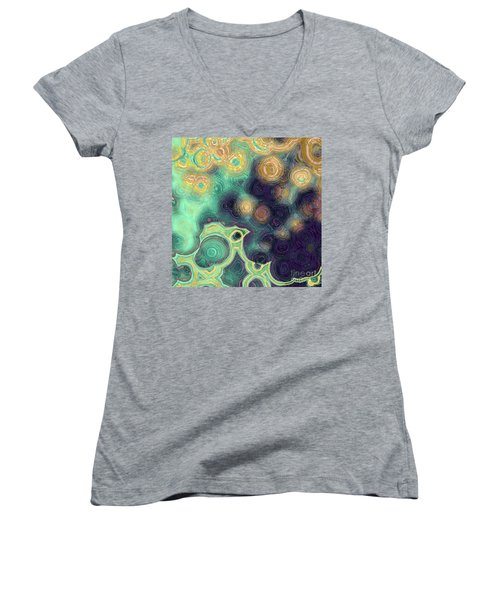 God's Original Purpose. Colossians 1 15 Women's V-Neck T-Shirt (Junior Cut) by Mark Lawrence