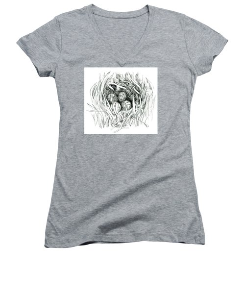 Godwit Nest Women's V-Neck T-Shirt