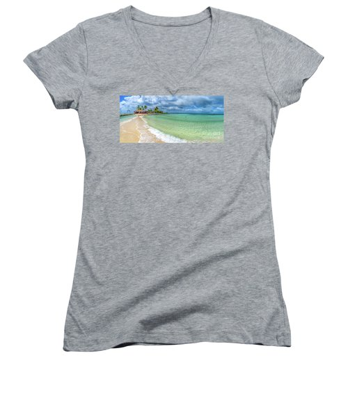 Goff's Caye Belize Pano Women's V-Neck