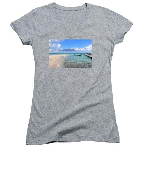 Goff's Caye Island Women's V-Neck T-Shirt