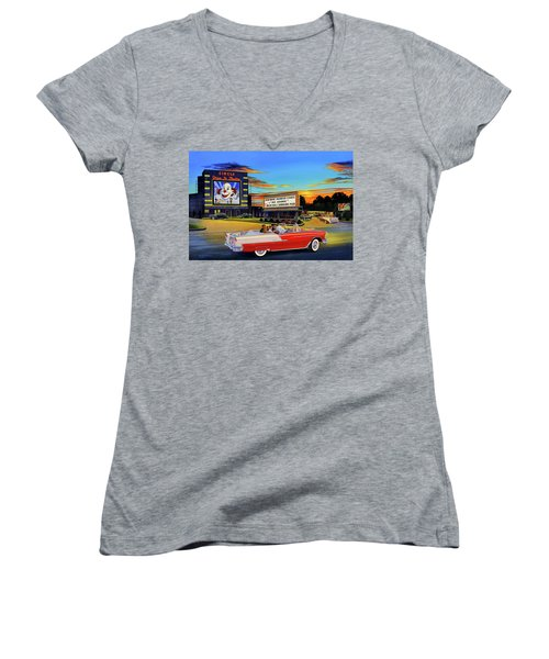 Goin' Steady - The Circle Drive-in Theatre Women's V-Neck (Athletic Fit)