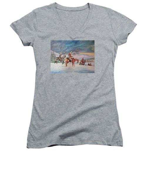 Going Home Women's V-Neck (Athletic Fit)