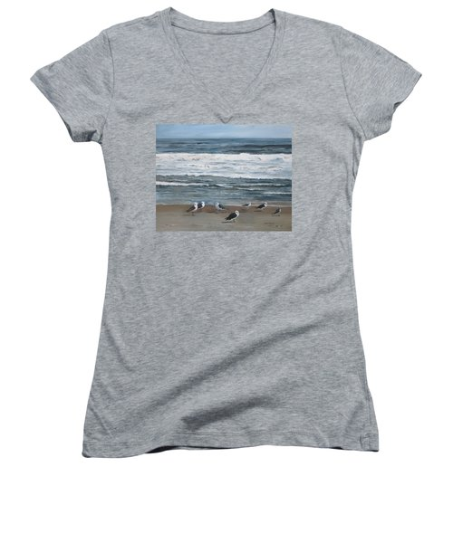 Going The Wrong Way Women's V-Neck (Athletic Fit)