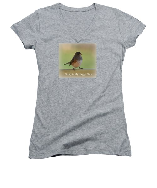 Going To My Happy Place Women's V-Neck (Athletic Fit)