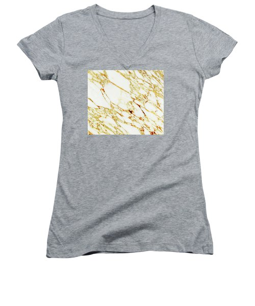 Gold Marble Women's V-Neck T-Shirt
