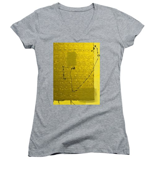 Gold Parchment Women's V-Neck T-Shirt (Junior Cut)