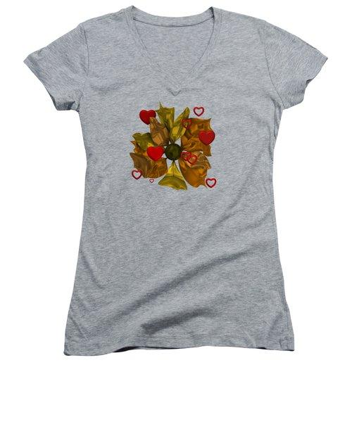 Golde Flower With Love Women's V-Neck