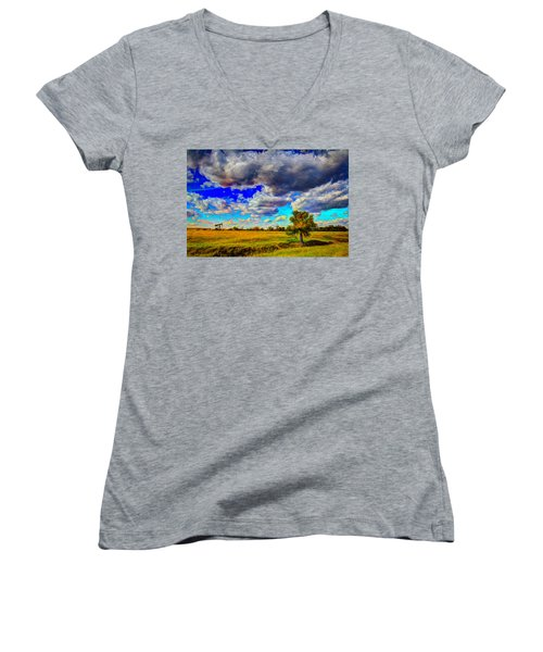 Golden Afternoon Women's V-Neck T-Shirt