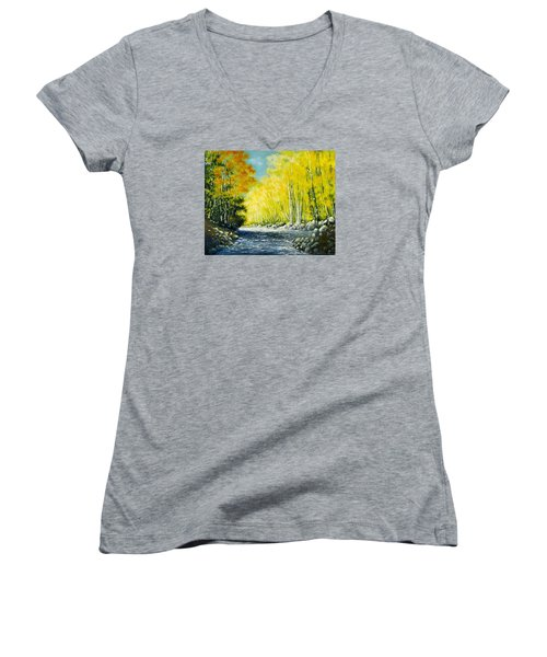 Golden Autumn Women's V-Neck T-Shirt