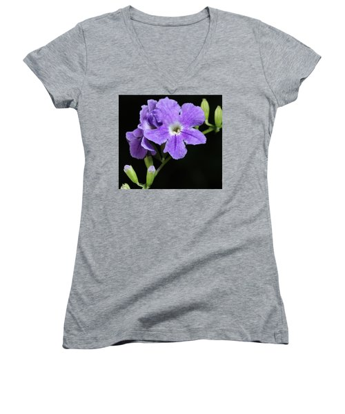 Golden Dewdrop II Women's V-Neck T-Shirt (Junior Cut) by Richard Rizzo