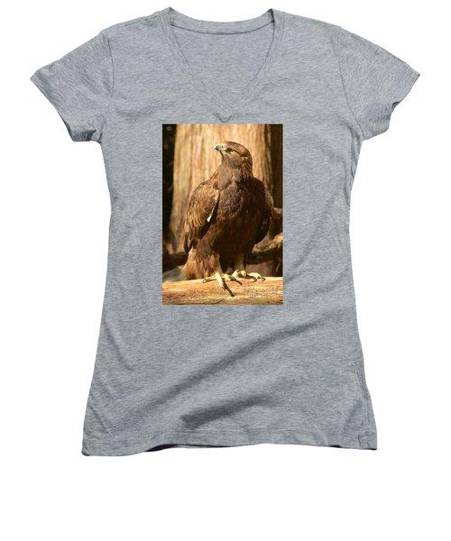 Golden Eagle Women's V-Neck T-Shirt (Junior Cut)