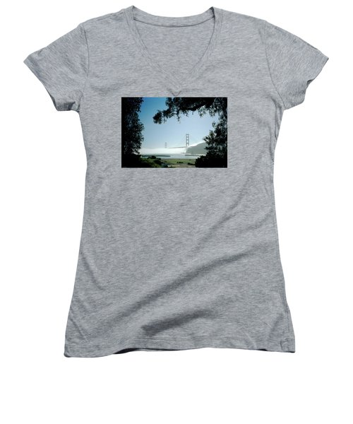 Golden Gate Fog  Women's V-Neck