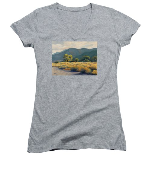 Golden Hour In Owen's Valley Women's V-Neck (Athletic Fit)
