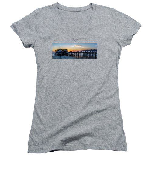 Golden Hour - Panorama Women's V-Neck (Athletic Fit)