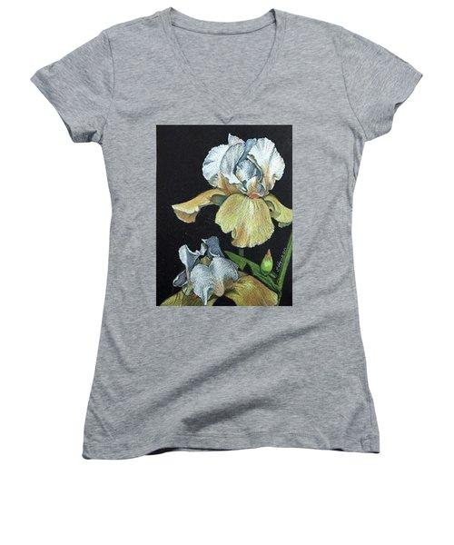 Golden Iris Women's V-Neck (Athletic Fit)
