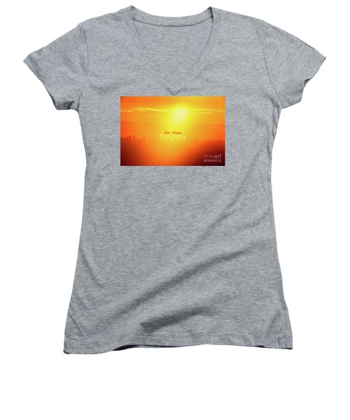 To You #002 Women's V-Neck T-Shirt