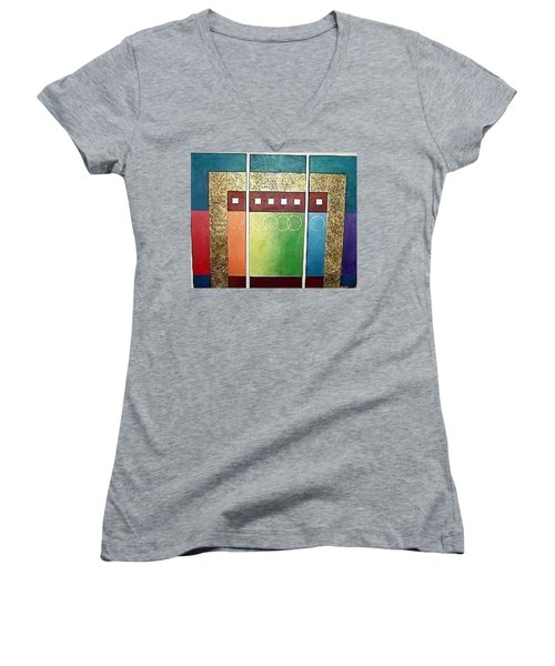 Golden Mesa Women's V-Neck T-Shirt (Junior Cut) by Bernard Goodman