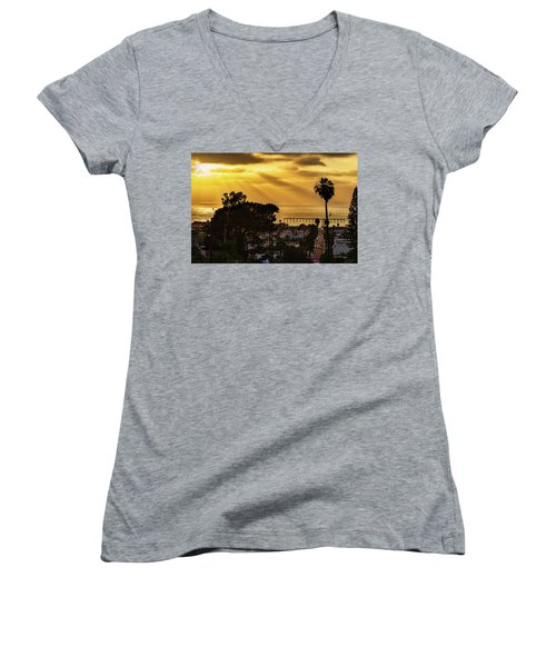 Women's V-Neck (Athletic Fit) featuring the photograph Golden Moment by Dan McGeorge