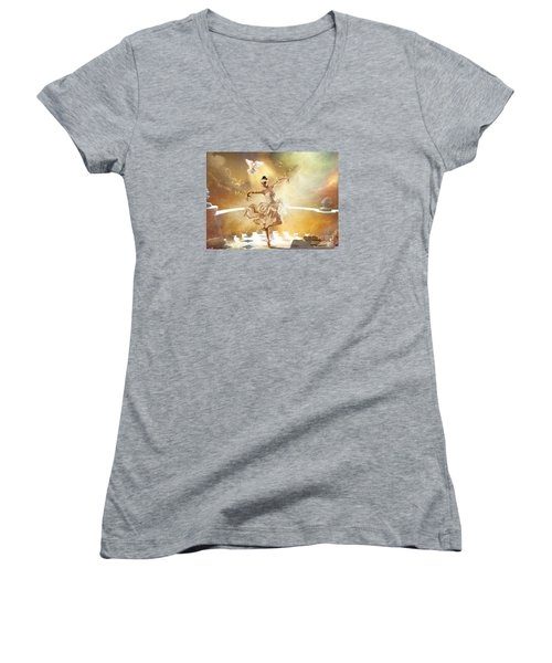 Golden Moments Women's V-Neck T-Shirt (Junior Cut)