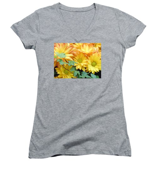 Golden Mums And Ivy Women's V-Neck