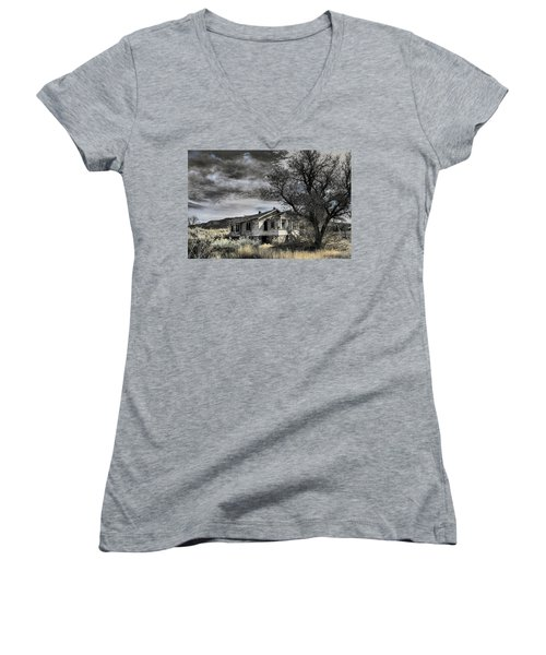 Golden New Mexico Women's V-Neck T-Shirt (Junior Cut) by Robert FERD Frank