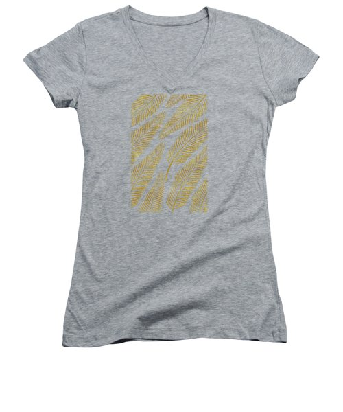 Golden Palm Women's V-Neck T-Shirt