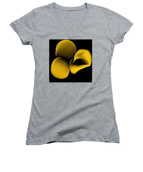 Golden Pantomime Women's V-Neck T-Shirt (Junior Cut) by Danica Radman