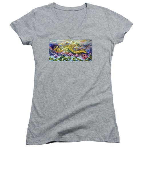 Golden Peace Women's V-Neck