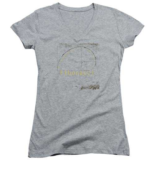 Golden Ratio Women's V-Neck T-Shirt (Junior Cut) by Paulette B Wright