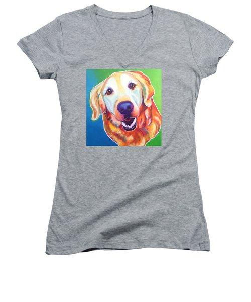 Golden Retriever - Daisy Mae Women's V-Neck T-Shirt