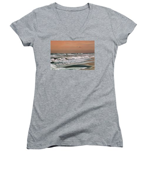 Golden Shore Women's V-Neck T-Shirt