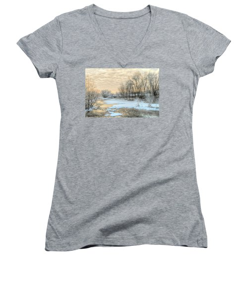 Golden Sunrise Signed Women's V-Neck