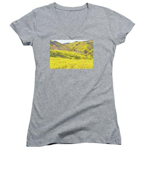 Goldfields And Temblor Hills Women's V-Neck
