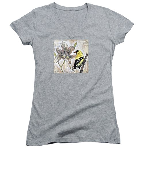 Goldfinch And Lily Women's V-Neck (Athletic Fit)