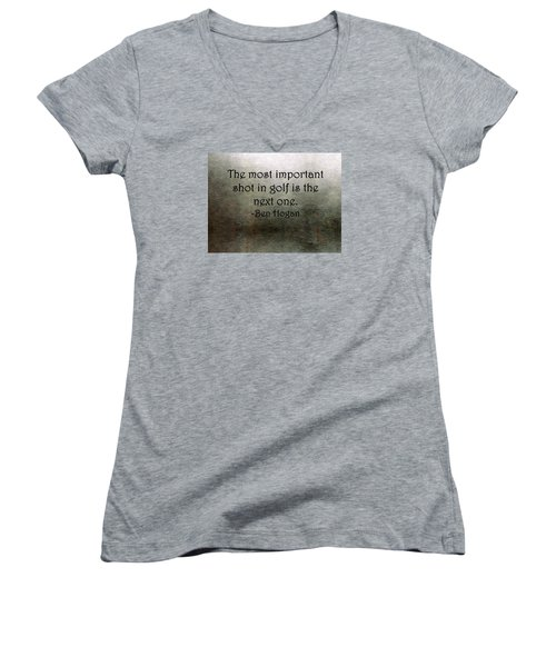 Golf Quote Women's V-Neck