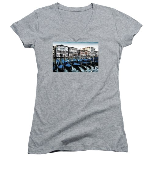 Gondolas Women's V-Neck T-Shirt (Junior Cut)