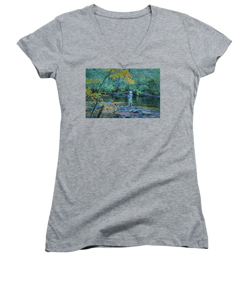 Gone Fishing Women's V-Neck