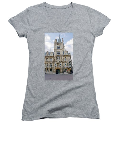 Gonville And Caius College. Cambridge. Women's V-Neck (Athletic Fit)
