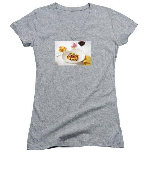 Good Eats Women's V-Neck T-Shirt