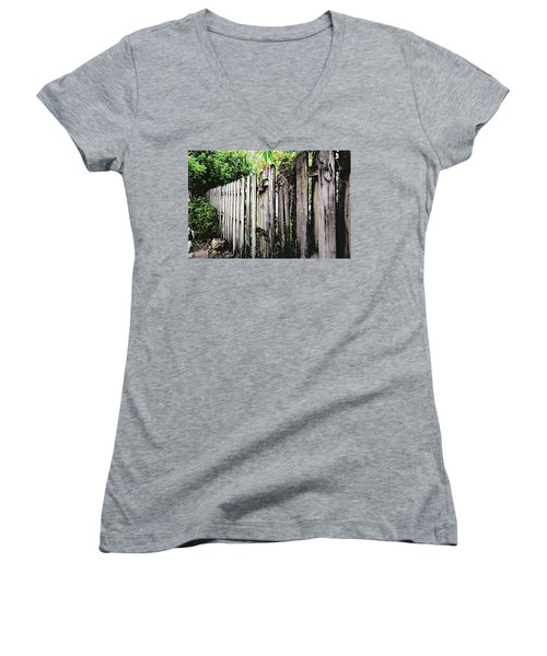 Good Fences, Good Neighbors Women's V-Neck (Athletic Fit)
