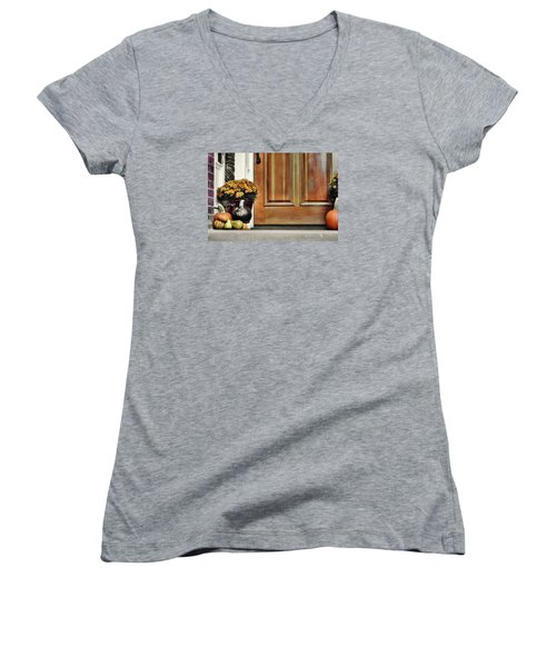 Good Gourds Women's V-Neck T-Shirt (Junior Cut)
