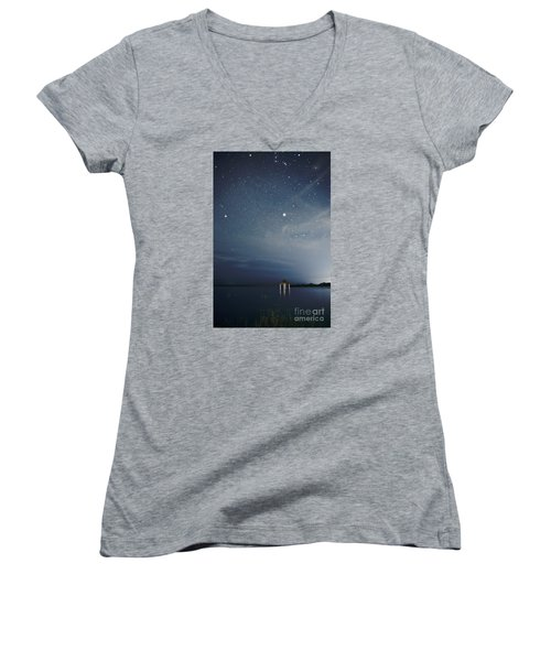 Women's V-Neck T-Shirt (Junior Cut) featuring the photograph Good Night Dreams by Yuri Santin