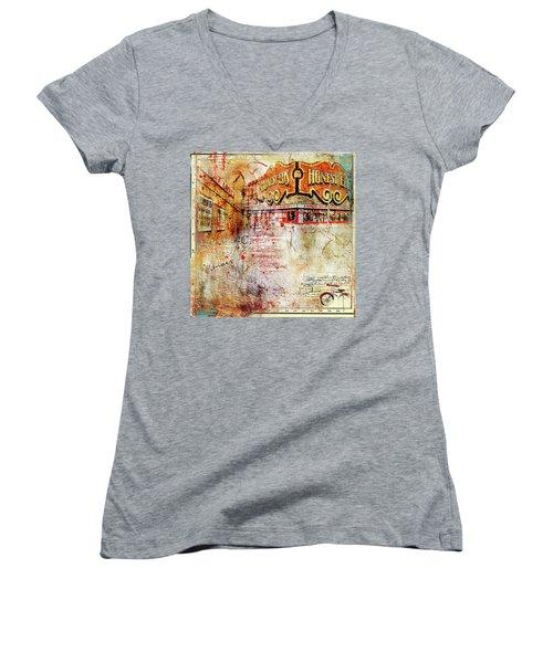 Goodbye Honest Eds II Women's V-Neck T-Shirt (Junior Cut) by Nicky Jameson