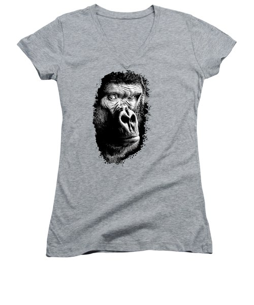 Gorilla Women's V-Neck (Athletic Fit)