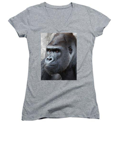 Gorillas In The Mist Women's V-Neck